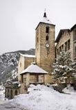 Sant Corneli and Sant Cebrià church Ordino. Andorra.  Stock Image