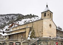 Sant Corneli and Sant Cebrià church Ordino. Andorra Stock Photo
