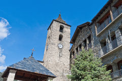 Sant Corneli y Sant Cebria at Ordino, Andorra Royalty Free Stock Photos