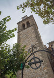 Sant Crist chapel in S'Arracó. Tower of the Sant Crist chapel from the 18th century in S'Arracó, Majorca Stock Photography