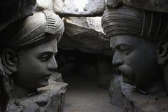 Sant Dhyaneshwar και Tukaram, ναός Hadshi, μουσείο Sant Darshan κοντά στο tikona Vadgoan Maval, περιοχή Pune, Maharashtra, Ινδία στοκ εικόνα με δικαίωμα ελεύθερης χρήσης