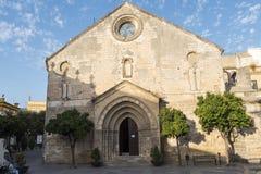 Sant Dionisio kościół, wniebowzięcie kwadrat, Jerez De La Frontera, S obrazy stock