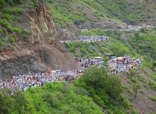 Sant Dnyaneshwar Palakhi, Pune, Maharashtra, India. Wayfarers during Sant Dnyaneshwar Palakhi, Pune, Maharashtra, India Royalty Free Stock Image