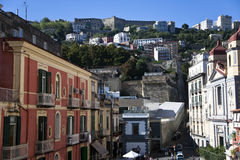 Sant'elmo de castel de Naples image stock