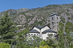 Sant Esteve at Andorra-La-Vella Stock Photos