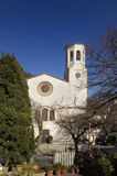 Sant Esteve church, La Selva de Mar, Alt Emporda, Royalty Free Stock Photo