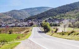 Sant esteve village stock photo