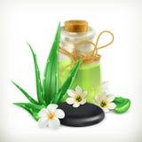 Santé et soin d'aloès Photos stock