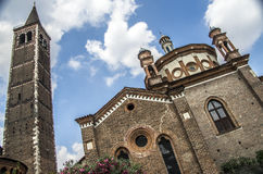 Sant Eustorgio church in Milan, Italy Stock Image