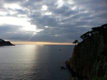 从sant feliu de guixols,西班牙的地中海 库存照片