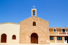 Sant Ferran church and belfry in Formentera Royalty Free Stock Photography