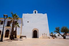 Sant Francesc Javier white church in Formentera Stock Image