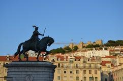 Sant George Castle - Lisbonne photo libre de droits