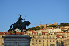 Sant George Castle - Lissabon Lizenzfreies Stockfoto