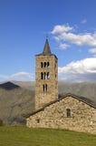 Sant gerade und Sant Pastor Church, XI-XII Jahrhundert Romanik, Son de Pi, Pallars Sobira, Lleida, Katalonien, Spanien stockbilder