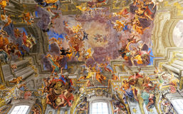 Sant Ignazio church ceiling frescoe, Rome, Italy Royalty Free Stock Image