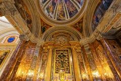 Sant Ignazio church ceiling frescoe, Rome, Italy Royalty Free Stock Photography
