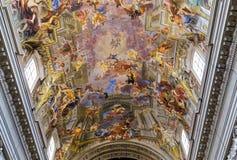 Sant Ignazio church ceiling frescoe, Rome, Italy Royalty Free Stock Photo