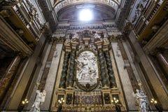 Sant Ignazio kyrka, Rome, Italien Royaltyfria Foton