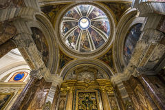 Sant Ignazio kyrka, Rome, Italien Arkivbild