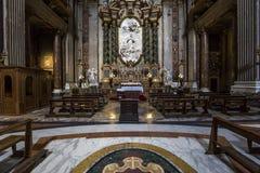 Sant Ignazio kyrka, Rome, Italien Royaltyfria Bilder