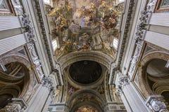 Sant Ignazio kyrka, Rome, Italien Arkivbilder