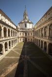 Sant Ivo alla Sapienza, Roman Catholic Church and Archives of the City of Rome Stock Photo