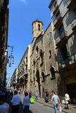 Sant Jaume教会,巴塞罗那耶路撒冷旧城,西班牙 免版税库存照片