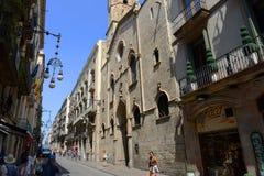 Sant Jaume Church, Barcelona gammal stad, Spanien Royaltyfria Foton