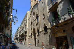 Sant Jaume Church, Barcelona Old City, Spain Royalty Free Stock Photos