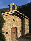 Sant Jaume de Tuixen chapel (Catalonia, Spain). The little chapel of Sant Jaume de Tuixen (10th. century), in the pyrenean range of Serra del Cadi (Catalonia Stock Photo