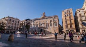 Sant Jaume square Barcelona Stock Photos