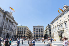 Sant Jaume Square, Barcelona Stock Image
