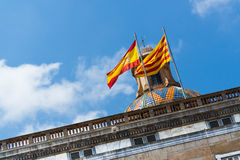 Sant Jaume square Royalty Free Stock Photography