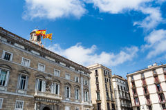 Sant Jaume square Stock Photography