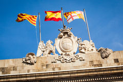 Sant Jaume square Stock Images