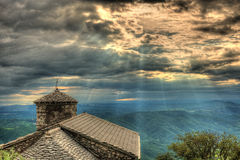Sant Jerome church on mount Nanos in slovenia, europe after stor Stock Photos