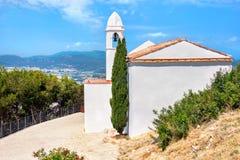 Sant Joan Castle in Blanes. Costa Brava, Spain Royalty Free Stock Photos