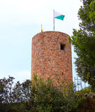 Sant Joan castle in Lloret de Mar at Costa Brava Royalty Free Stock Image