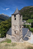Sant Joan de Boi. Romanesque church of Sant Joan in Boi, Vall de Boi, Catalonia stock image