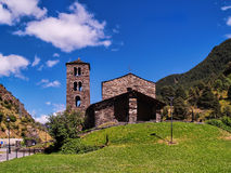 Sant Joan de Caselles (Andorra), romanesque church Stock Photos
