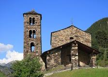 Sant Joan de Caselles (Canillo, Andorra). Romanesque church build in the 12th century Royalty Free Stock Photos