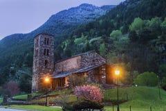 Sant Joan de Caselles Church em Canillo imagem de stock royalty free