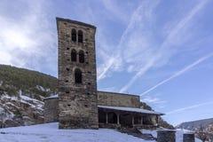 Sant Joan de Caselles Church errichtet im 11-12. Jahrhundert, Andorra Lizenzfreies Stockbild