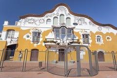 Sant Joan Despi,Catalonia,Spain. Architecture, modernist style, Can Negre, by Josep Maria Jujol Gibert. Sant Joan Despi, Province Barcelona, Catalonia stock photography