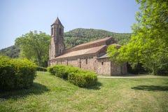 Sant Joan les Fonts,Catalonia,Spain. Monastery, Monestir de Sant Joan, romanesque style, Sant Joan les Fonts, Garrotxa, province Girona, Catalonia Stock Photography