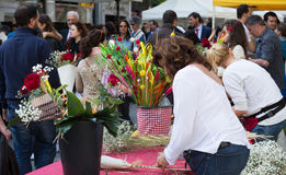 Sant Jordi каталонский праздник St. George в Каталонии стоковая фотография rf
