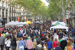 Sant Jordi Day in Barcelona Stock Foto