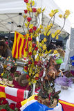 Sant Jordi Day in Barcelona Royalty Free Stock Photography