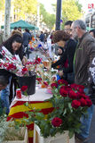 Sant Jordi Day in Barcelona Stock Photography